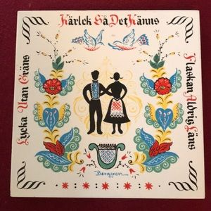 🇺🇸 Berggren Good Luck Swedish Wedding Tile
